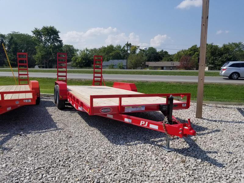 2018 83x20(18+2' Dovetail) PJ Trailers CE Trailer - w/ 5' Fold-up Ramps (GVW: 9899) *Red Powdercoat*