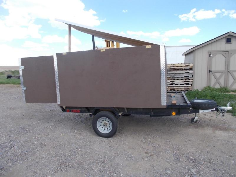 2 place side load ATV trailer W/ camper box