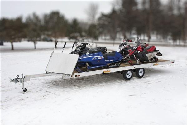 "2013 Bear Track 99.25"" x 264"" V-Front Snowmobile Trailer"