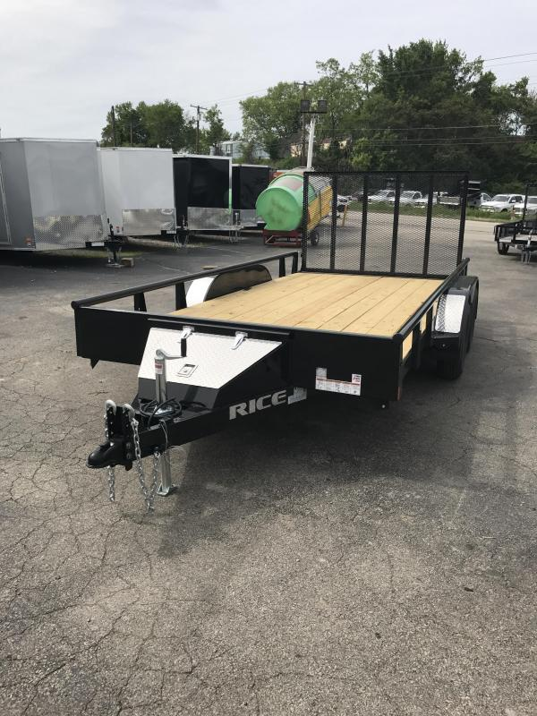 2017 Rice TDP8214 Utility Trailer