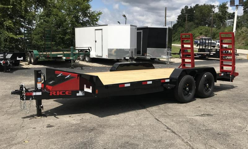 2017 Rice FMEMR8218 Equipment Trailer