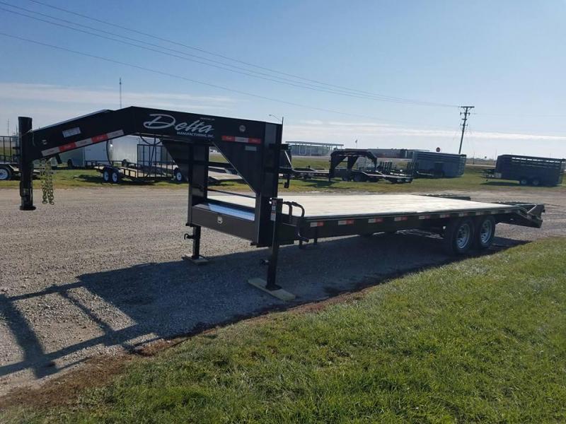 2018 Delta Manufacturing 25ft Gooseneck Equipment Trailer