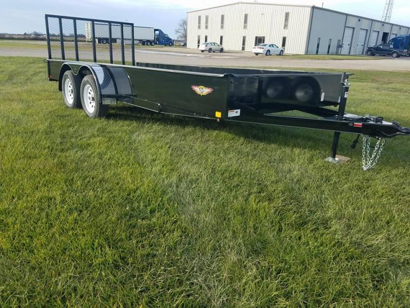 2018 H and H Trailer 82x18 Tandem Axle Solid Side Utility Trailer