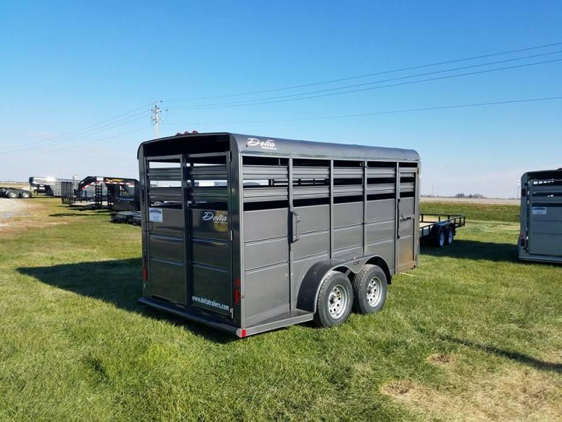 2018 Delta Manufacturing 16ft 500ES Bumper Pull Livestock Trailer