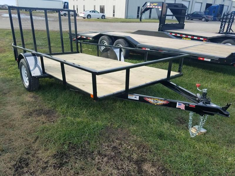 2018 H and H Trailer 77x12 Rail Side Utility Trailer