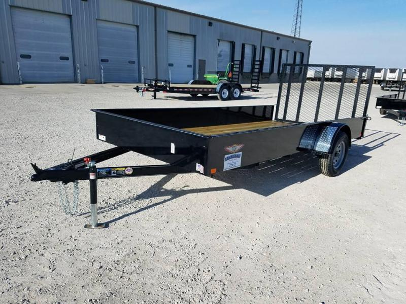 2018 H and H Trailer 77x14 Solid Side Utility Trailer