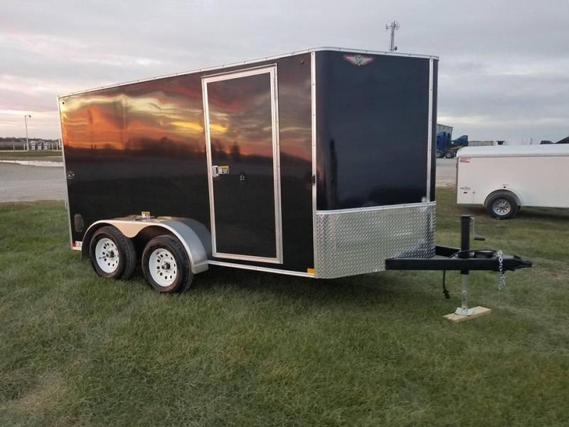 2018 H and H Trailer 7x12 CA Series Enclosed Cargo Trailer