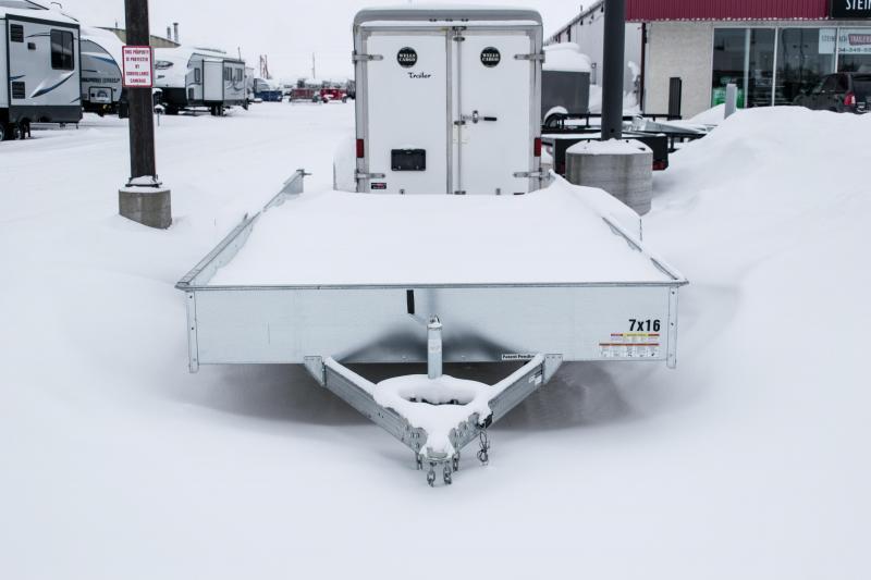 2019 Sure-Trac 7 x 16 Galvanized High Side Tandem 7K