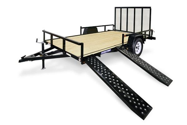 2018 Sure-Trac 7 X 14 SA ATV Tube Top Utility Trailer