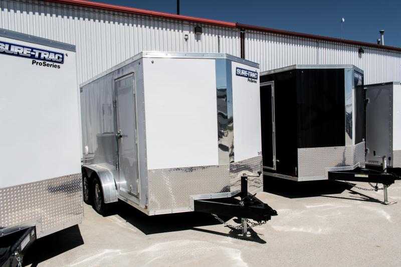 2019 Sure-Trac 7 x 12 Pro Series Wedge Front TA 7K Enclosed Cargo Trailer Ramp