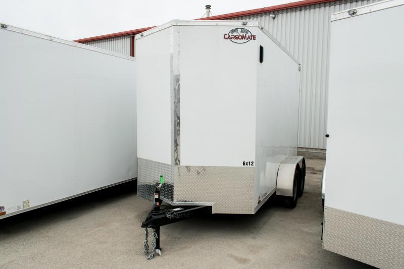 2019 Cargo Mate 6X12 Enclosed Cargo Trailer Ramp 7K