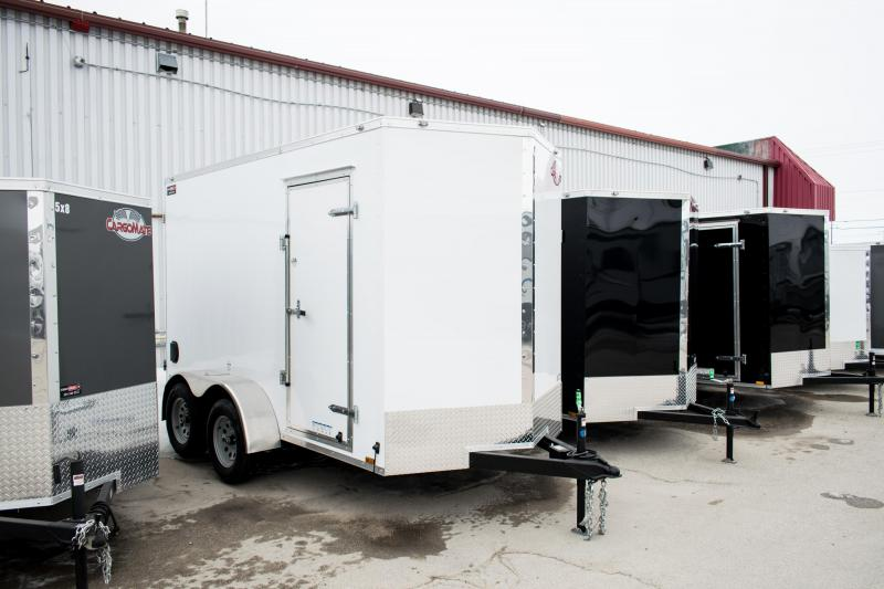 "2019 Cargo Mate 6X12 Enclosed Cargo Trailer +6"" 7K Barn"