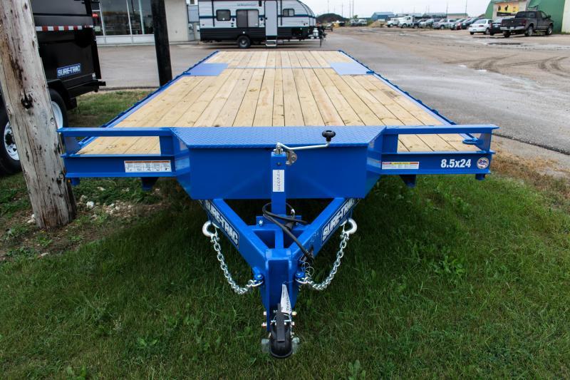 2019 Sure-Trac 8.5 X 24 Flat Deck Deckover 10K