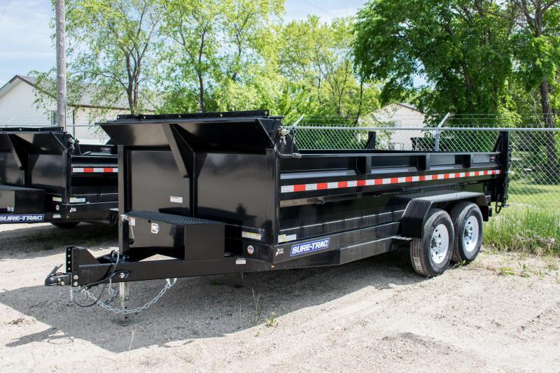 2019 Sure-Trac 7 x 16 14K HD Low Profile Scissor Lift Dump Trailer