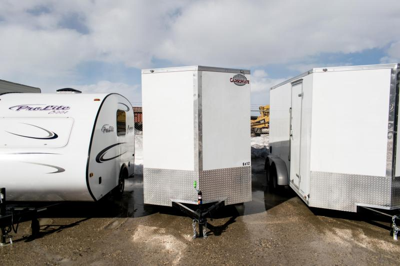 2019 Cargo Mate 6x12 Enclosed Cargo Trailer 3K Ramp