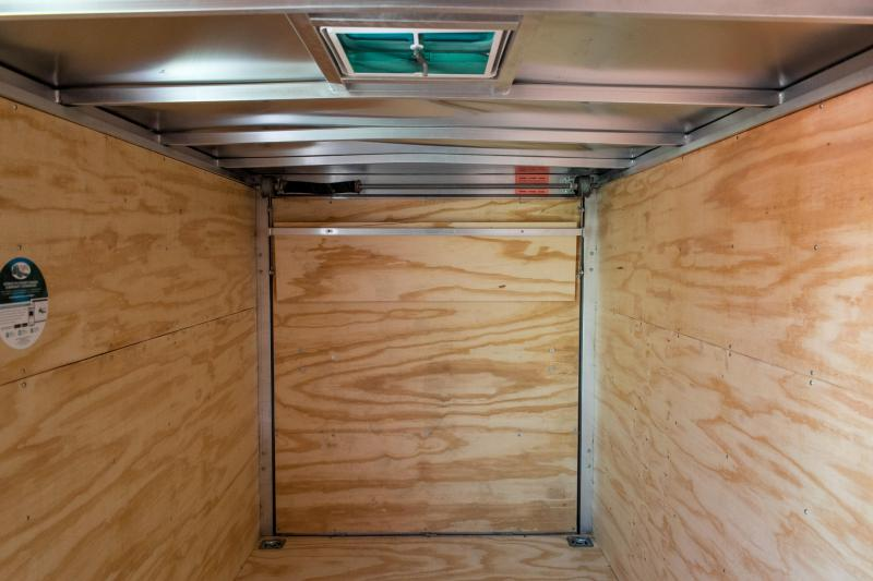 2019 Cargo Mate 6 x 12 Aluminum Enclosed Cargo Trailer 7K Ramp