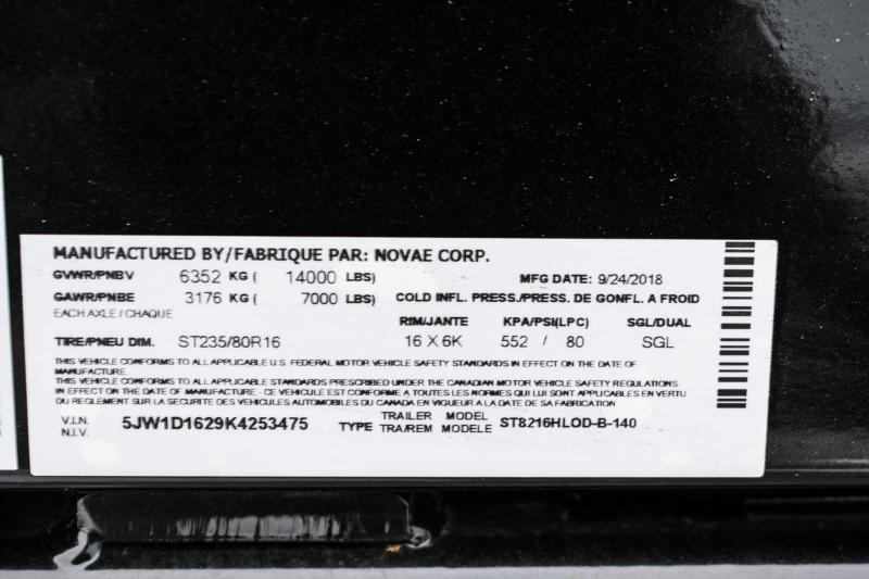 2019 Sure-Trac 82 IN X 16 LP 14K Scissor Dump