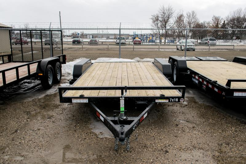 2019 Sure-Trac 7 X 16 Wood Deck Car Hauler 7k
