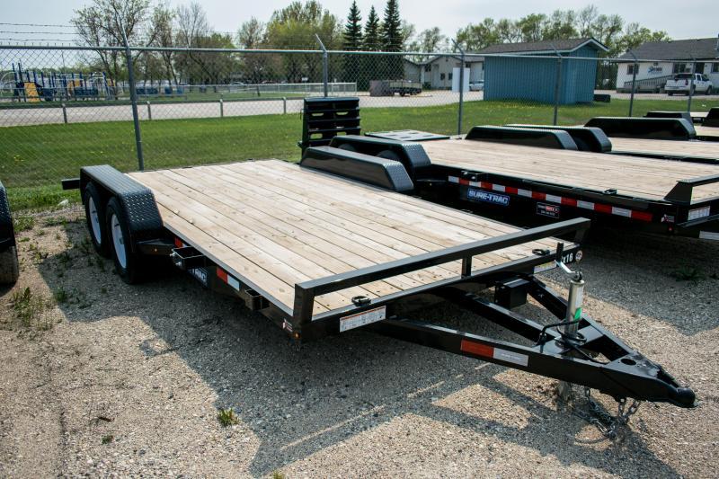 2019 Sure-Trac 7 X 16 Wood Deck Car Hauler 7k