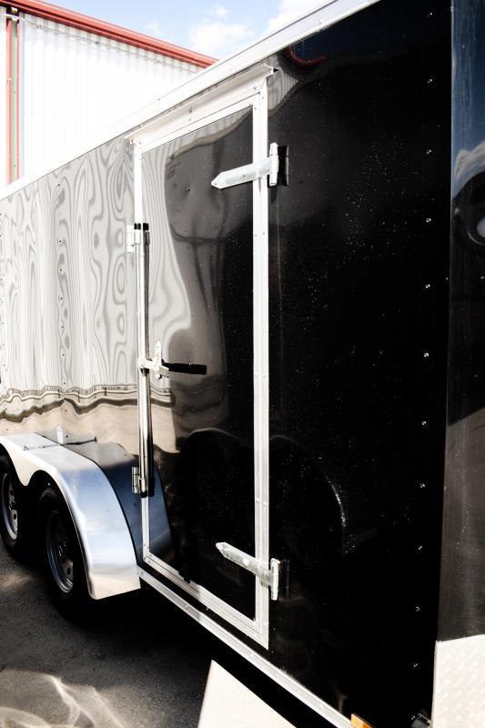 2018 Cargo Mate 7X14 Enclosed/Cargo TA Wedge 7K