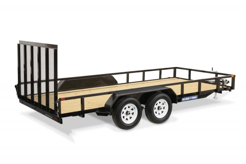 2014 Sure-Trac 7 X 18 TA Tube Top Utility Trailer
