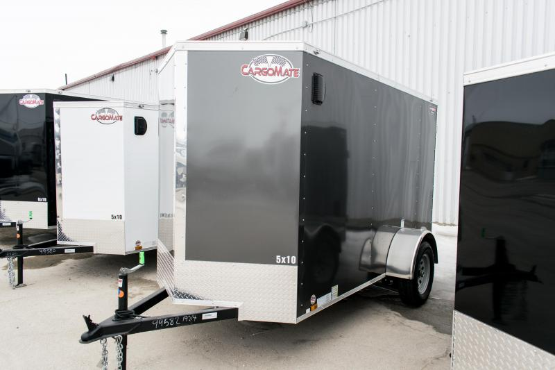 "2019 Cargo Mate 5X10 Enclosed Cargo Trailer +12"" 3K Ramp"
