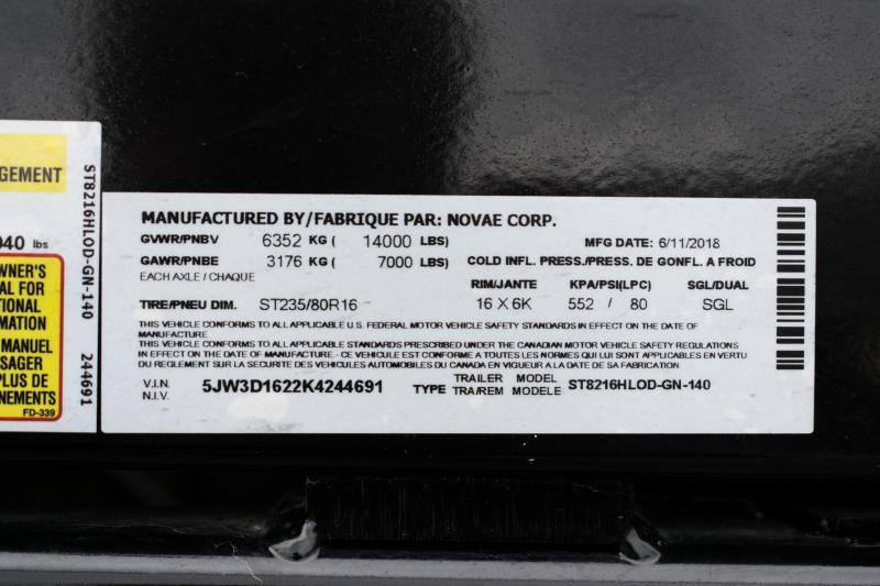2019 Sure-Trac 82 IN X 16 LP 14K Goose Scissor Dump