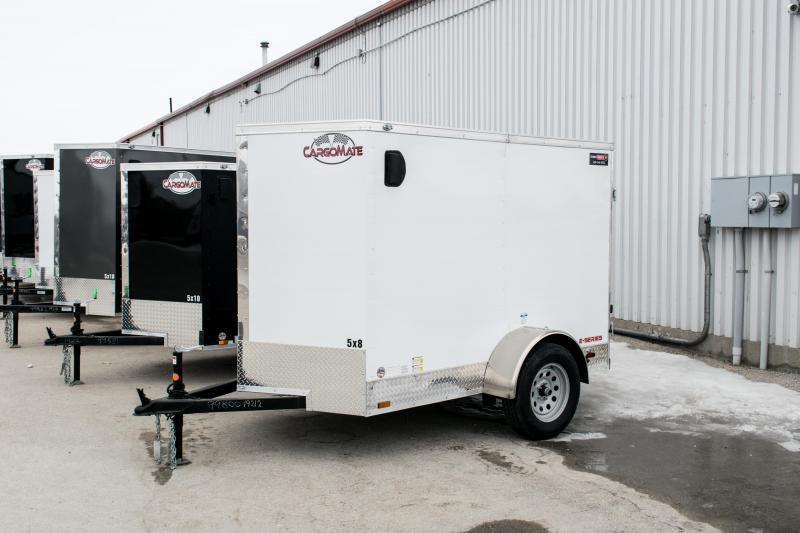"2019 Cargo Mate 5X8 Enclosed Cargo Trailer +6"" Barn"