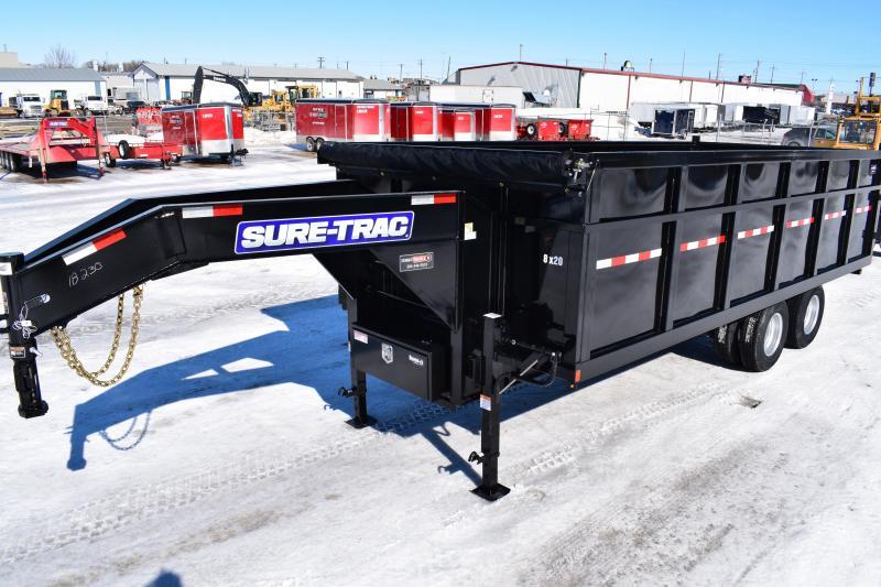 2018 Sure-Trac 8 X 20 HD Deckover Gooseneck Dump Trailer