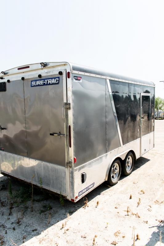 2014 Sure-Trac 8.5 x 16 Pro Round Top Enclosed/Cargo 7K Ramp
