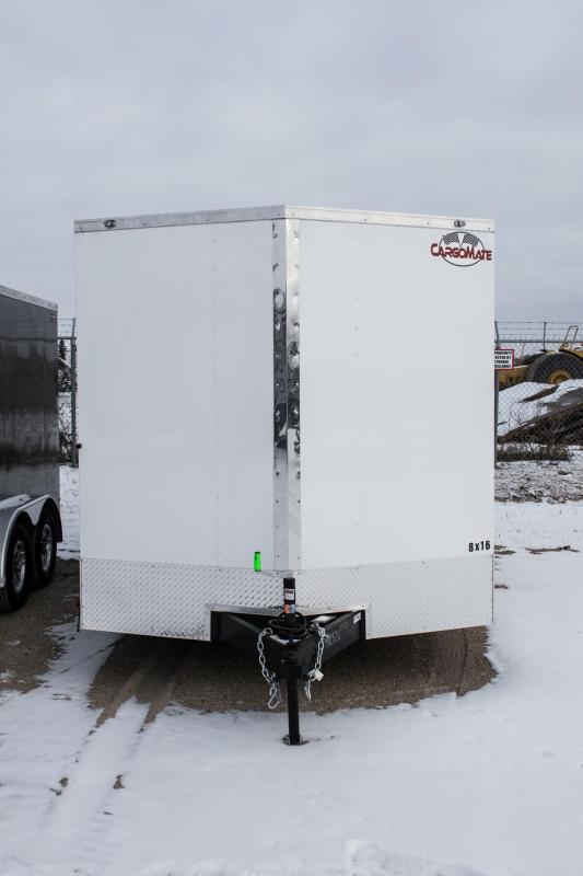 2019 Cargo Mate 8 X 16 Enclosed Cargo Trailer Ramp 7K