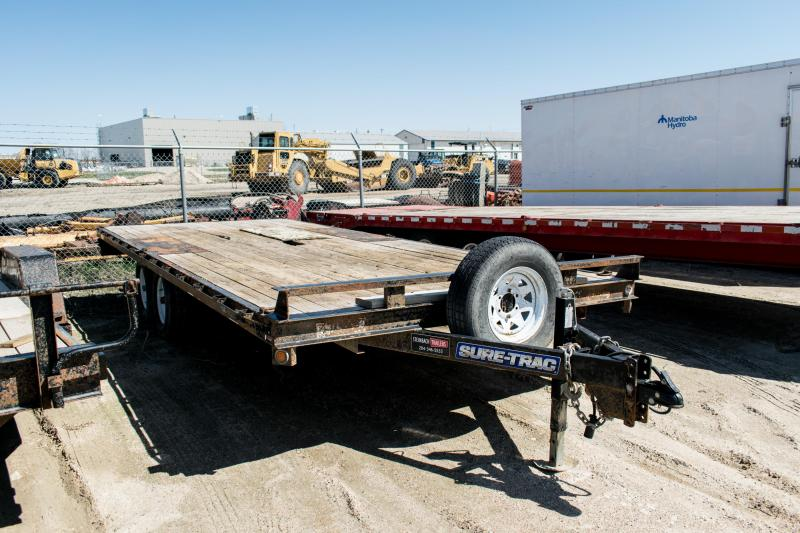 2015 Sure-Trac 8.5 x 20 10K Low Profile Flatbed Deckover Flatbed Trailer