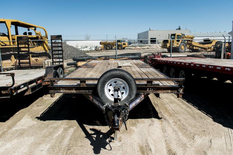 2015 Sure-Trac 8.5 x 20 10K Low Profile Flatbed Deckover Flatbed Trailer
