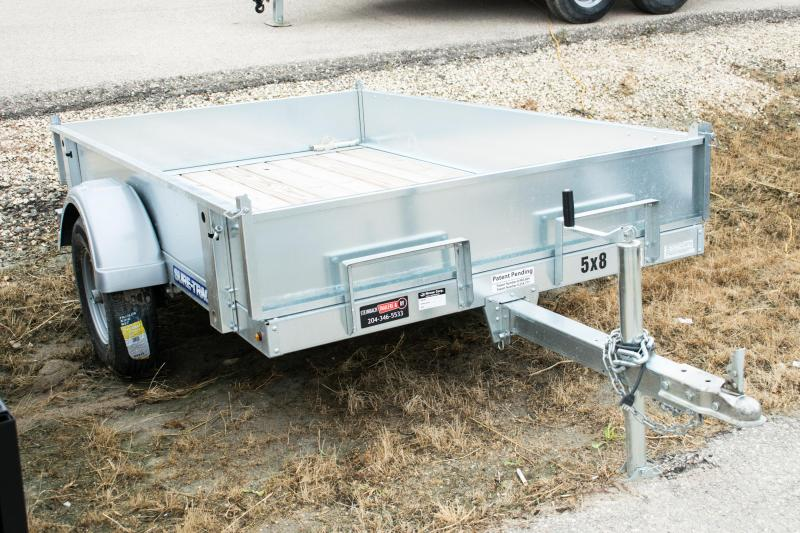 2018 Sure-Trac 5 x 8 Galvanized Tilt Bed Utility Trailer 2K