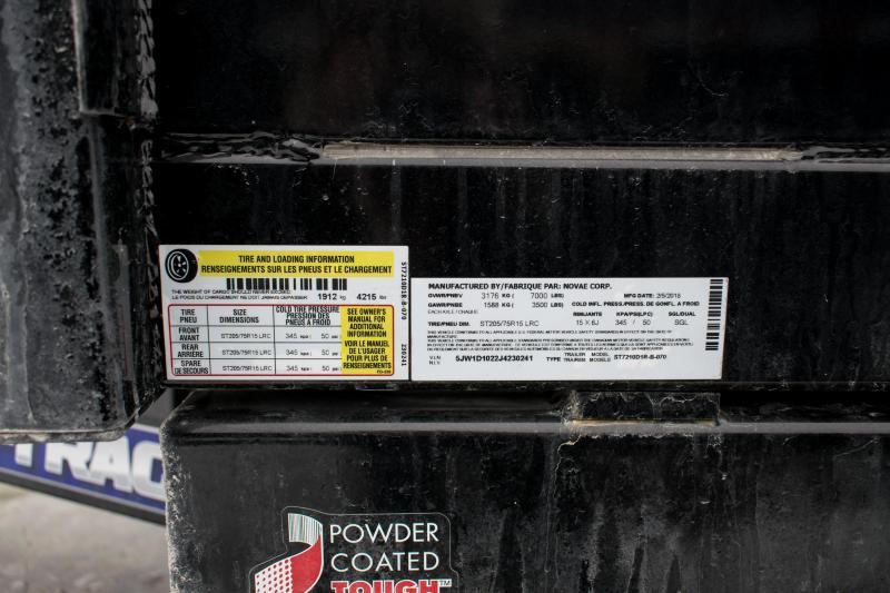 2018 Sure-Trac 72 IN x 10 LProfile 7K Single Ram Dump