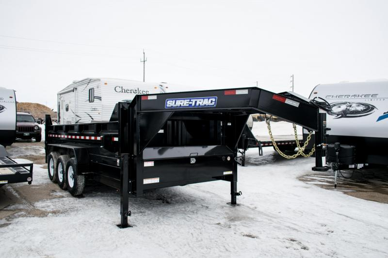 2019 Sure-Trac 7 X 16 LProfile 21K Telescopic Goose