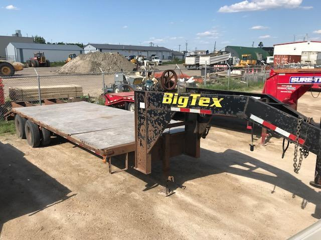 2001 Big Tex Trailers 20GN 8 X 20+5 Deckover Equipment Trailer