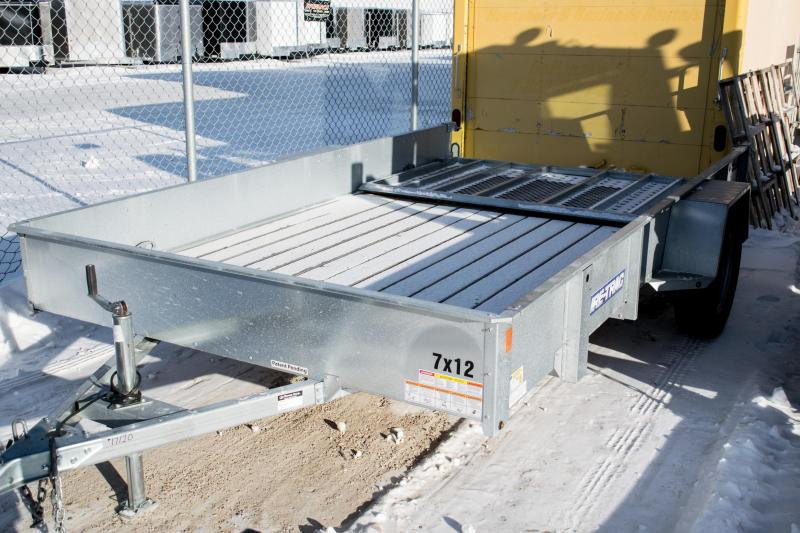 2017 Sure-Trac 7 x 12 Galvanized High Side 3k Idler
