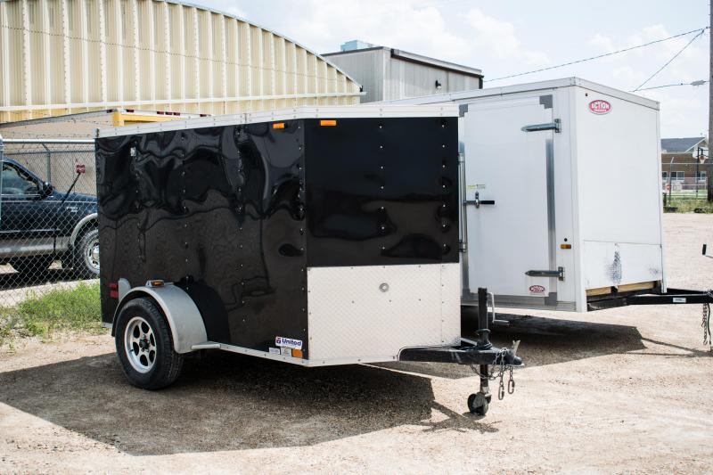 2011 United Trailers 5 x 8 ft. Enclosed Cargo Trailer Ramp