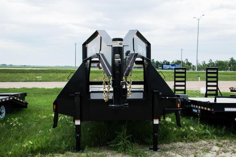 2020 Sure-Trac 8.5 x 25 + 5 25.9K Gooseneck Heavy Duty Low Profile Beavertail Deckover Flatbed Trailer