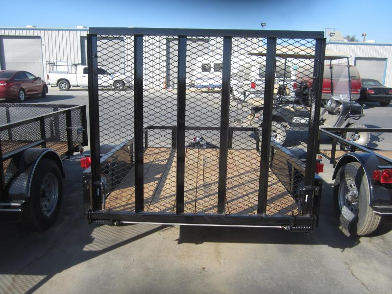 2016 Maxxd Trailers 10X61- WHITE SERIES ANGLE SINGLE AXLE Utility Trailer