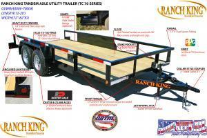 2018 Ranch King 610X14 Utility Trailer HAVE EVERY SIZE YOU