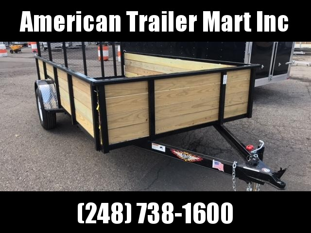 8 X 12 Single Axle Open Utility Trailer