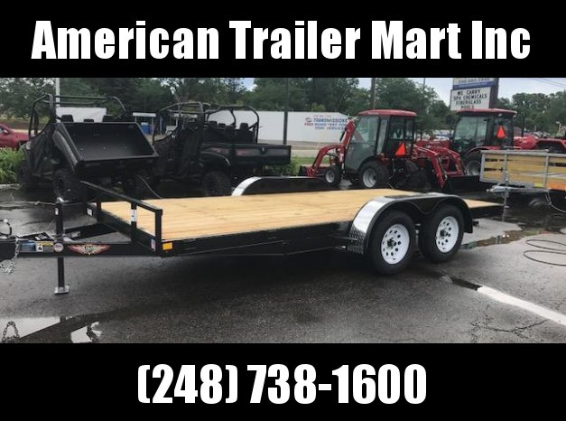 "82"" X 16  Open Car Hauler/Flatbed Trailer"