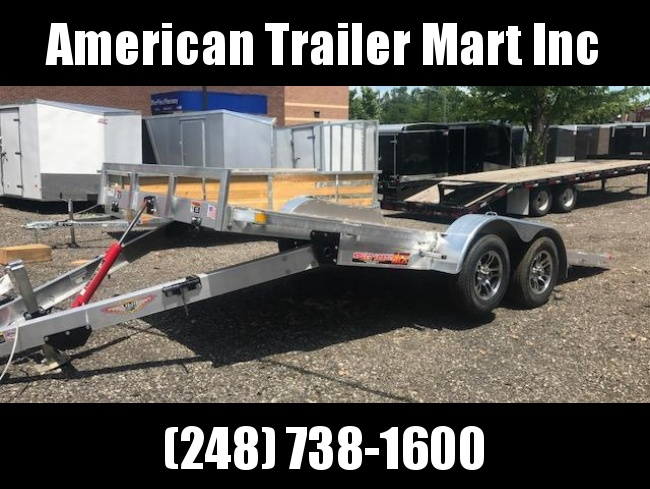 7 X 18 Tandem Axle Flatbed /Tilt/ Open Car Hauler Trailer