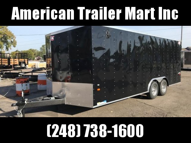 8 5 X 20 Tandem Axle Enclosed Car Hauler Trailer American