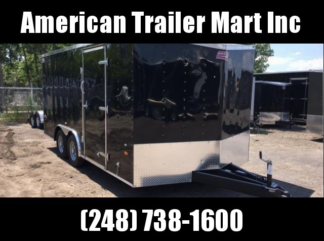 8.5 X 16 Tandem Axle Enclosed Car Hauler Trailer