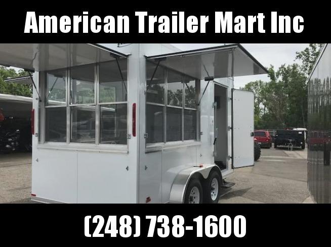 7X14 Tandem Axle Vending / Concession Trailer