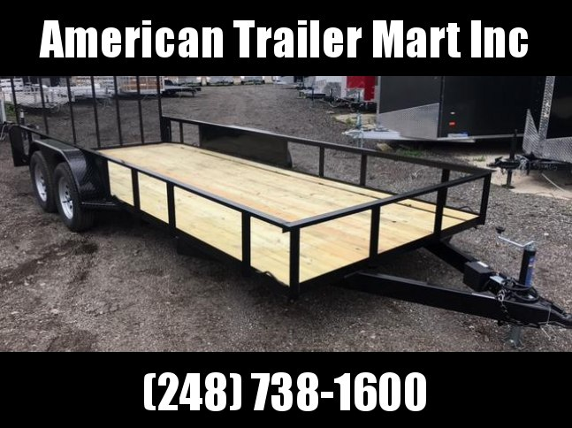 7 X 18 Tandem Axle Open Utility Trailer