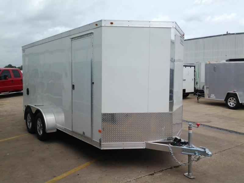2017 Haulmark Aluminum  7' x 16' x 7'  Enclosed Cargo Trailer